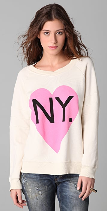 Wildfox Original Gidget Bi-Coastal Girl Sweatshirt