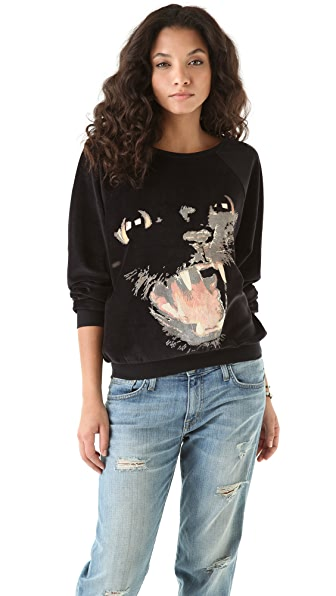 Wildfox Panther Pullover Sweatshirt
