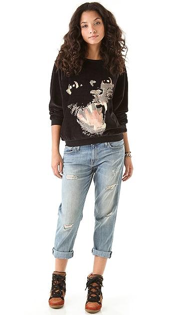 Wildfox Panther Pullover Sweatshirt