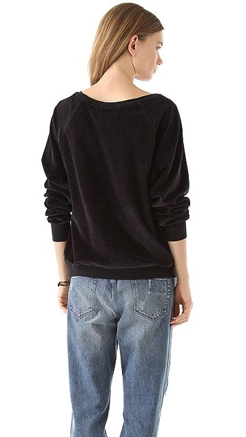 Wildfox Mary Velour Sweatshirt