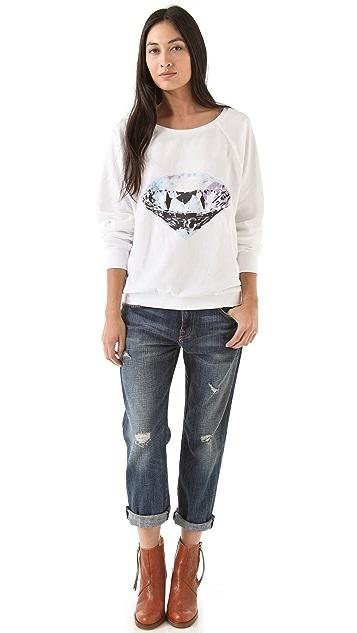 Wildfox Diamond Velour Sweatshirt