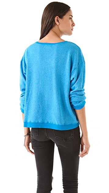 Wildfox Tour Eiffel Oversized Sweatshirt