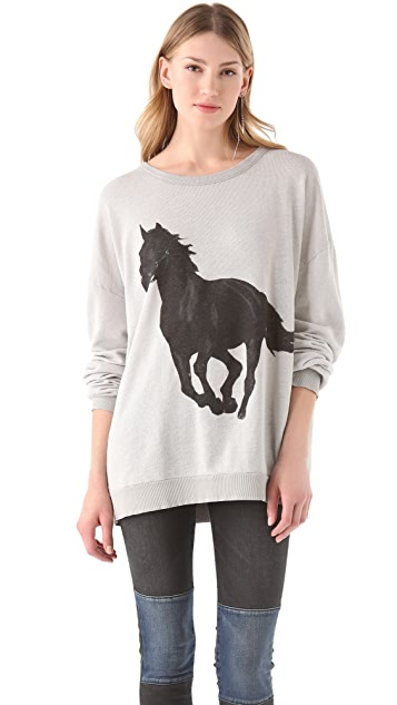 Wildfox Black Stallion Barefoot Sweater