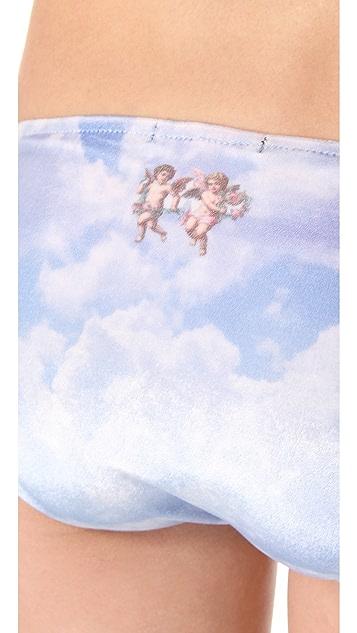 Wildfox Cupid Cloudy Sky Bikini Briefs