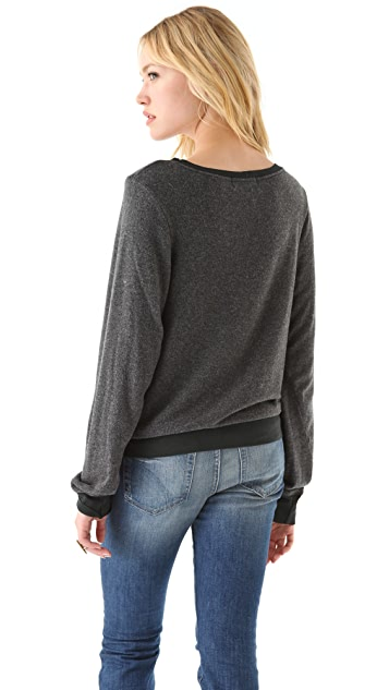 Wildfox Verona Cat Baggy Beach Sweatshirt