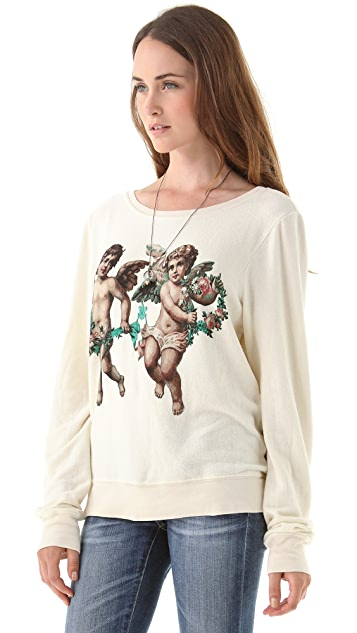 Wildfox Cherubs Baggy Beach Sweatshirt
