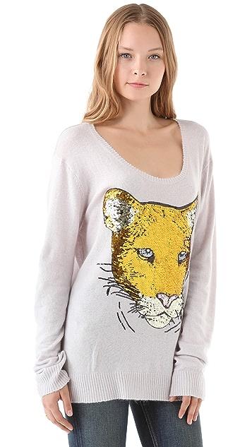 Wildfox Sequin Lion Friend Sweater