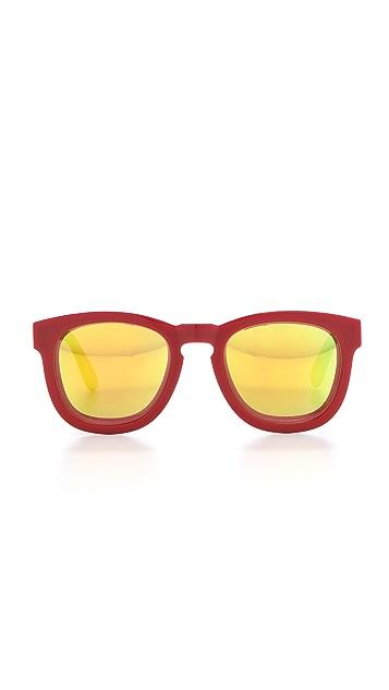 Wildfox Classic Fox Mirrored Sunglasses