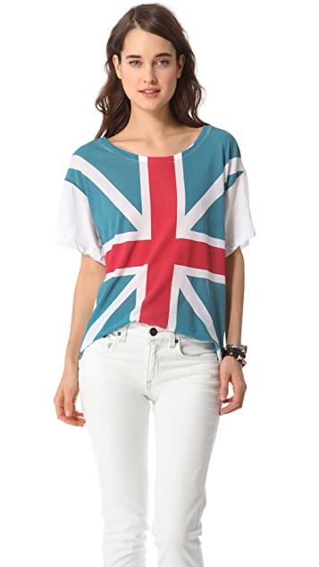 Wildfox Union Jack Tissue Tee