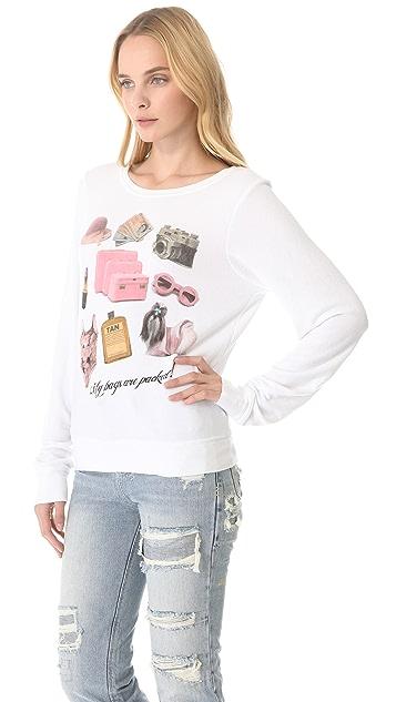Wildfox Granny's Bag Baggy Beach Sweatshirt