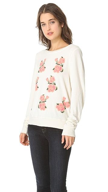 Wildfox Prairie Rose Baggy Beach Sweatshirt