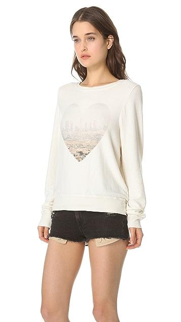 Wildfox LA Skyline Baggy Beach Sweatshirt