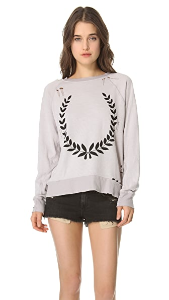 Wildfox Just a Laurel Destroyed Sweater