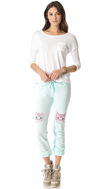 Wildfox Party Cat Sweatpants