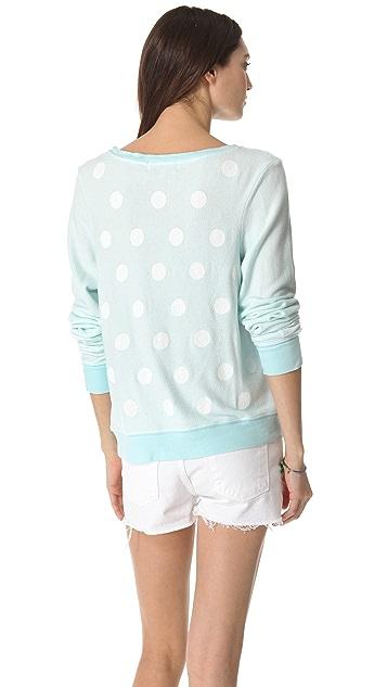 Wildfox Polka Dot Baggy Beach Sweatshirt