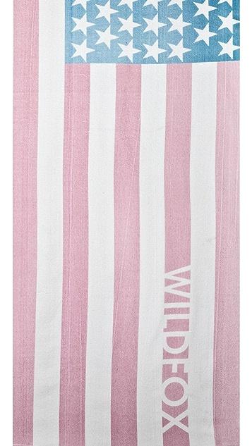 Wildfox Sun Bleach Flag Towel