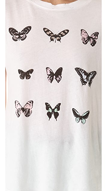 Wildfox Warhol Butterflies Tee