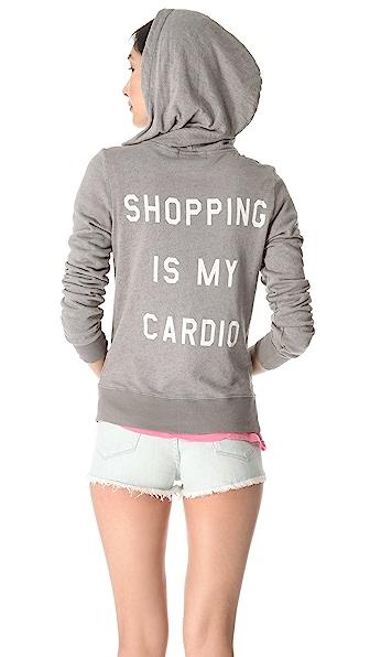 Wildfox Shopping is My Cardio Hoodie