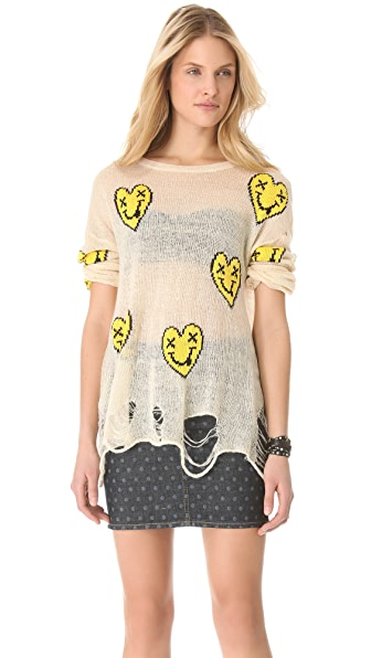 Wildfox Heart Face Sweater