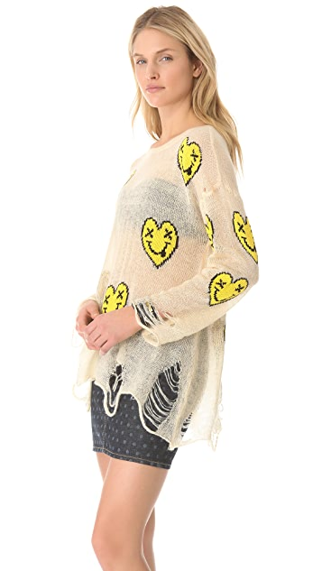 Wildfox Heart Face Sweater