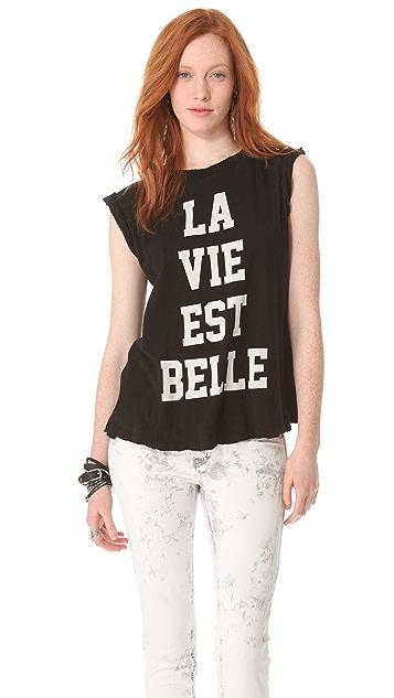 Wildfox La Vie Est Belle Crew Neck Tee
