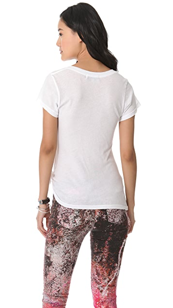 Wildfox Above Sunset Classic V Neck Tee