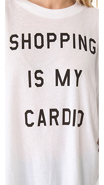 Wildfox Shopping is My Cardio Tee