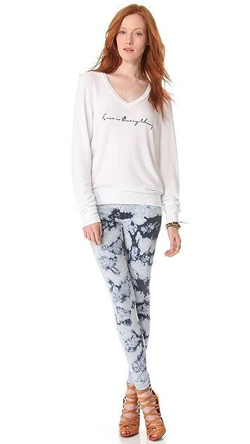 Wildfox Everything is Love Baggy Beach Sweatshirt