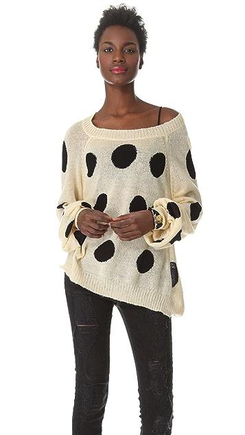 Wildfox Poka Dot It Sweater