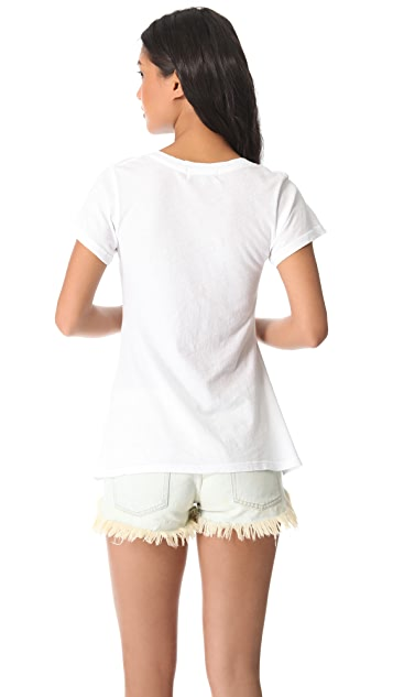 Wildfox Sweet Love V Neck Tee