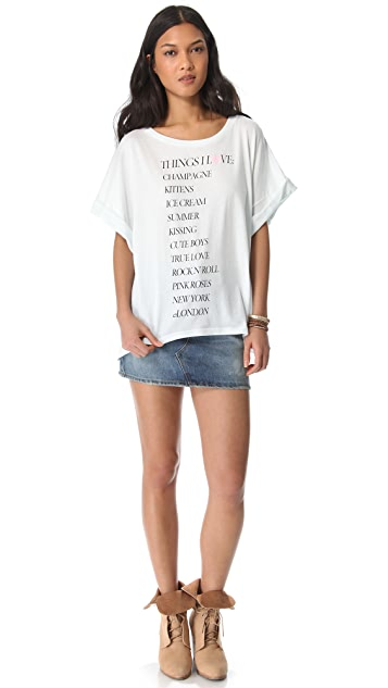 Wildfox Thing I Love Boy Tee