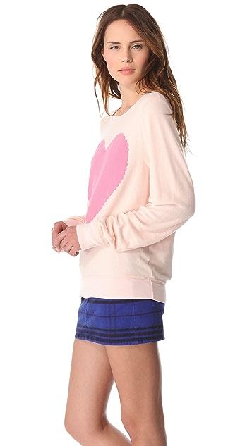 Wildfox Love Note Baggy Beach Sweatshirt