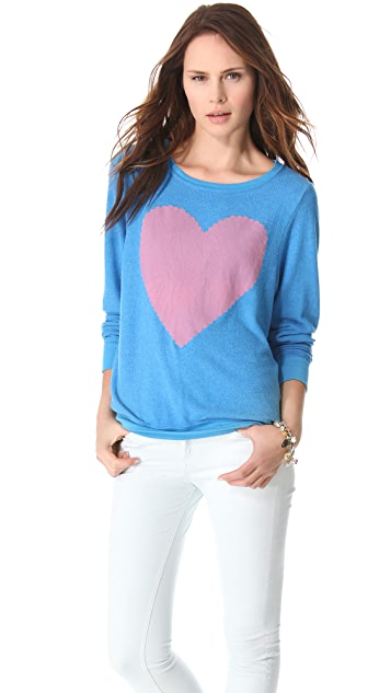 Wildfox Love Note Baggy Beach Sweatshirt