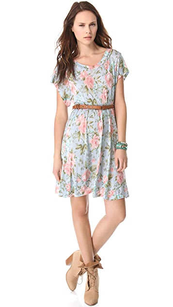 Wildfox Grunge Rose Print Dress