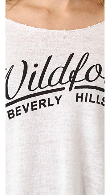 Wildfox Beverly Chase Off Shoulder Top