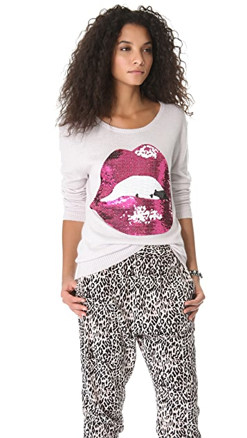 Wildfox Sequin Make Out Sweater