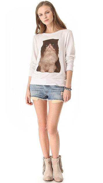 Wildfox Chocolate Kitten Sweatshirt