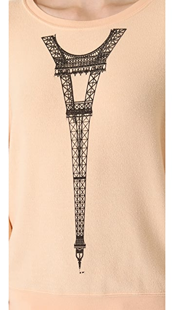 Wildfox Tour Eiffel Baggy Beach Sweatshirt