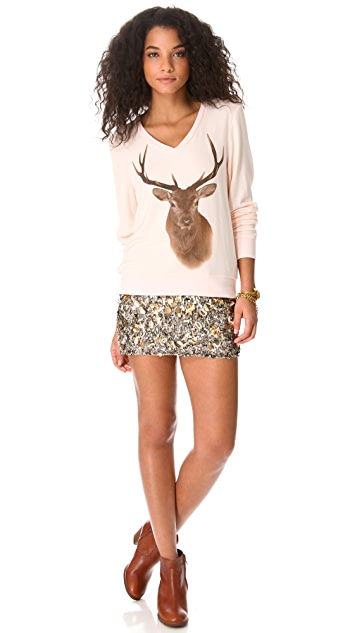 Wildfox Hunt Baggy Beach Sweatshirt