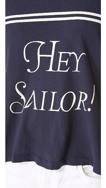 Wildfox Hey Sailor! Lazy Weekend Tee