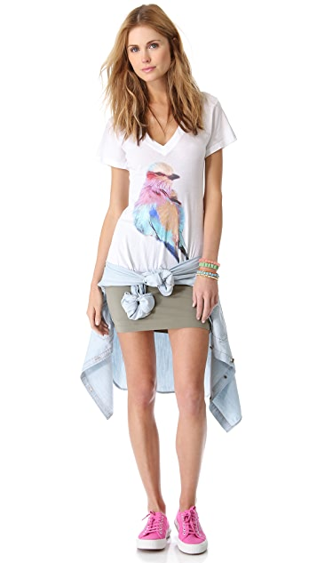 Wildfox Bright Wing V Neck Tee