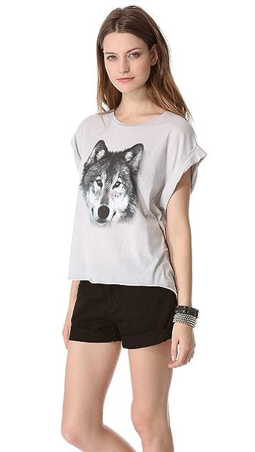 Wildfox Grey Wolf Tee