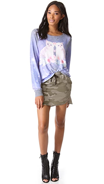 Wildfox Fortunes Fool Baggy Beach Sweatshirt