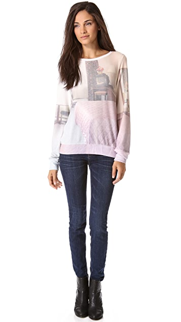 Wildfox Motel Mirrors Baggy Beach Sweatshirt