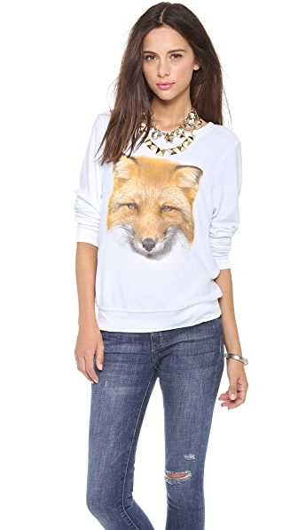 Wildfox Fox Baggy Beach Sweatshirt