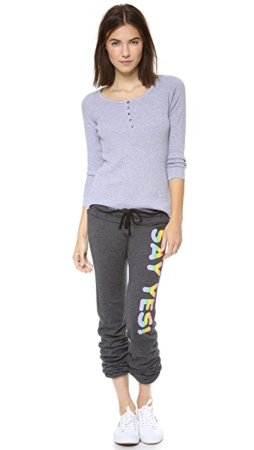 Wildfox Say Yes Sweatpants