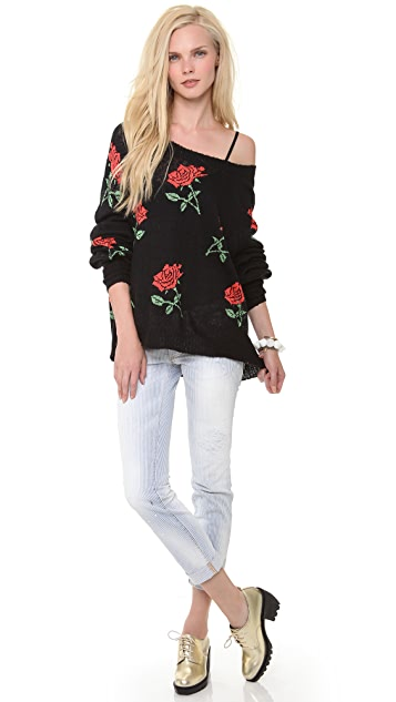 Wildfox A Rose is a Rose Sweater