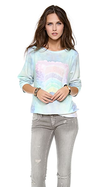 Wildfox Dreaming of Cake Baggy Beach Sweatshirt