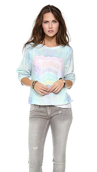 Wildfox Dreaming of Cake Baggy Beach Sweatshirt