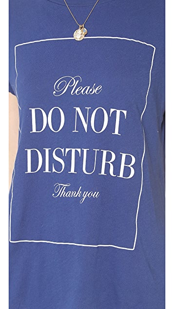 Wildfox Do Not Disturb Crewneck Tee